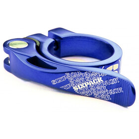 Sixpack Menace Saddle Clamp Ø31,8mm blue